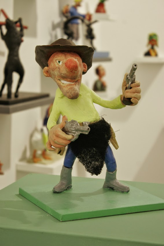"Martin Nill: Revolverheld, Ausstellung ""nillpop"" Bunsen Goetz Galerie Nürnberg"