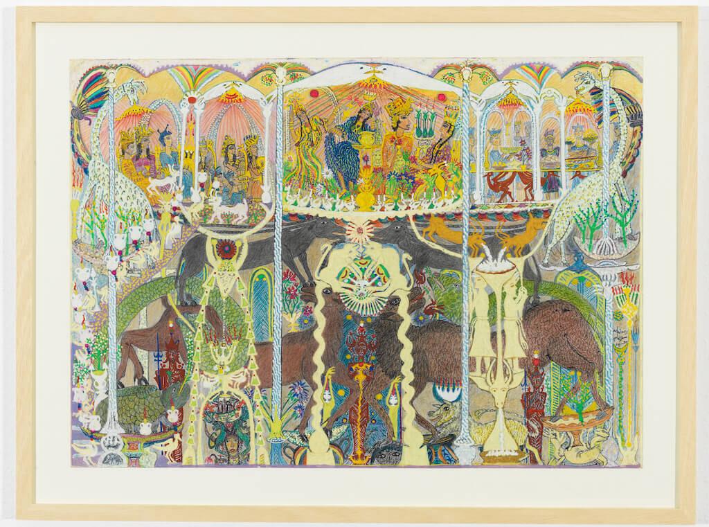 Scheich Ramadan Abu Suelem: Sommerpalast einer Königsfamilie, 1997, © kunst galerie fürth
