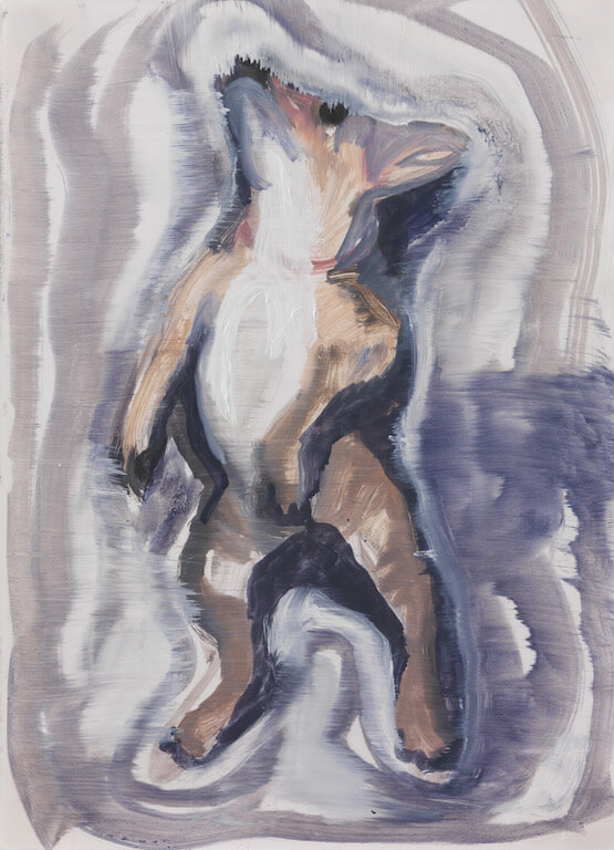 o.T, 2015,Öl auf Papier, 39x27cm, © Sejin Kim