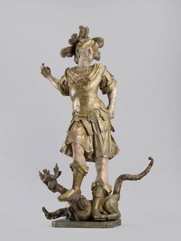 Johann Michael Schaller: Heiliger Georg, um 1725 Lindenholz 183 cm hoch x 108,5 cm breit x 60 cm tief Germanisches Nationalmuseum, Nürnberg