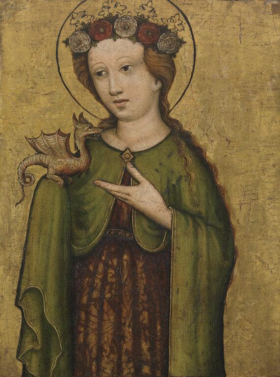 Heilige Margarete, um 1450 Öl auf Fichtenholz 41 x 32 cm Germanisches Nationalmuseum, Nürnberg