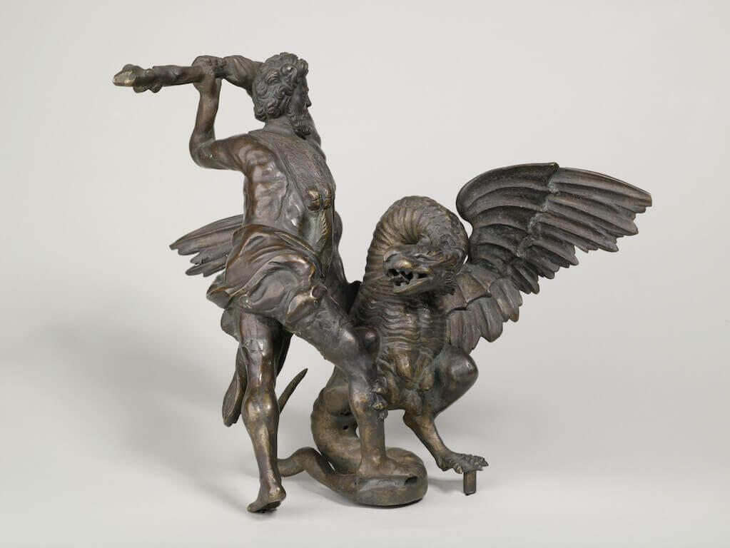 Herkules im Kampf mit Ladon, um 1590 Bronze 35,6 cm hoch x 36,5 cm breit x 22 cm tief Germanisches Nationalmuseum, Nürnberg