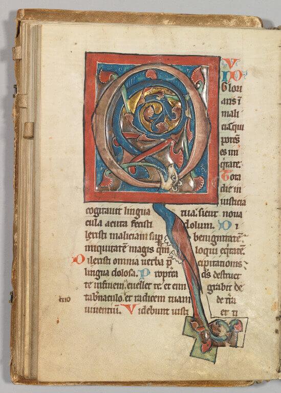 Psalterium, 2. Drittel des 13. Jahrhunderts Malerei auf Pergament 19 cm x 13 cm Germanisches Nationalmuseum, Nürnberg Bibliothek