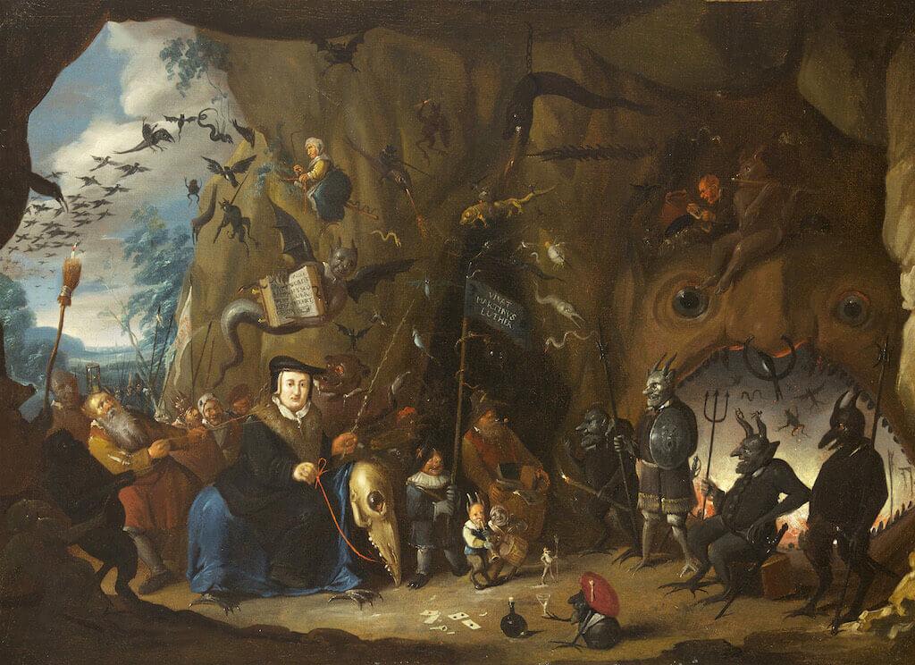 Egbert II. van Heemskerck: Luthers Eintritt in die Hölle, um 1700/1710 Öl auf Leinwand 46 x 85 cm Genf, Musée international de la Réforme