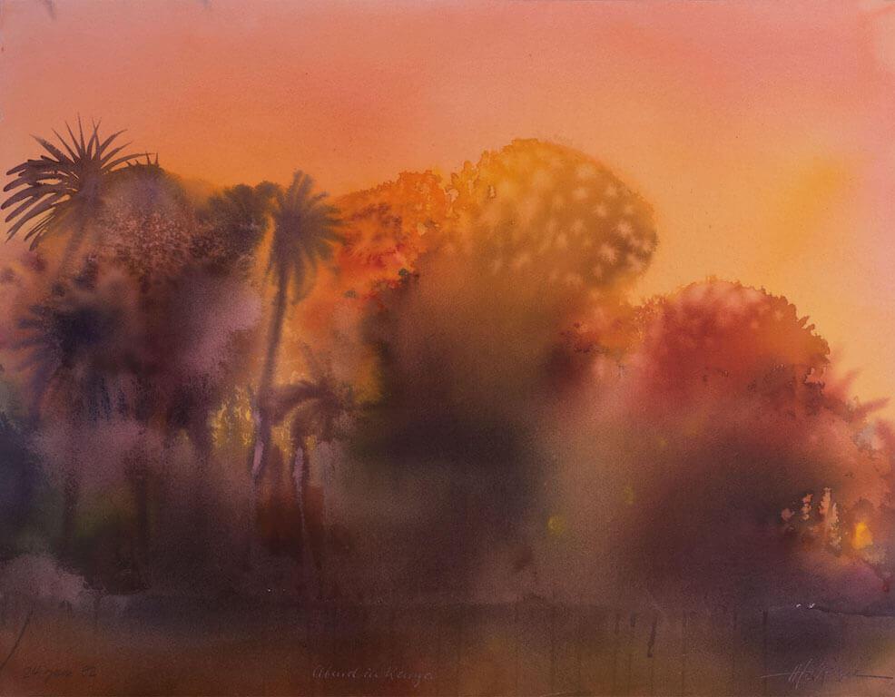 Hans Joachim-Stenzel: Abend in Kenia, 24.6.92, © Galerie Paul