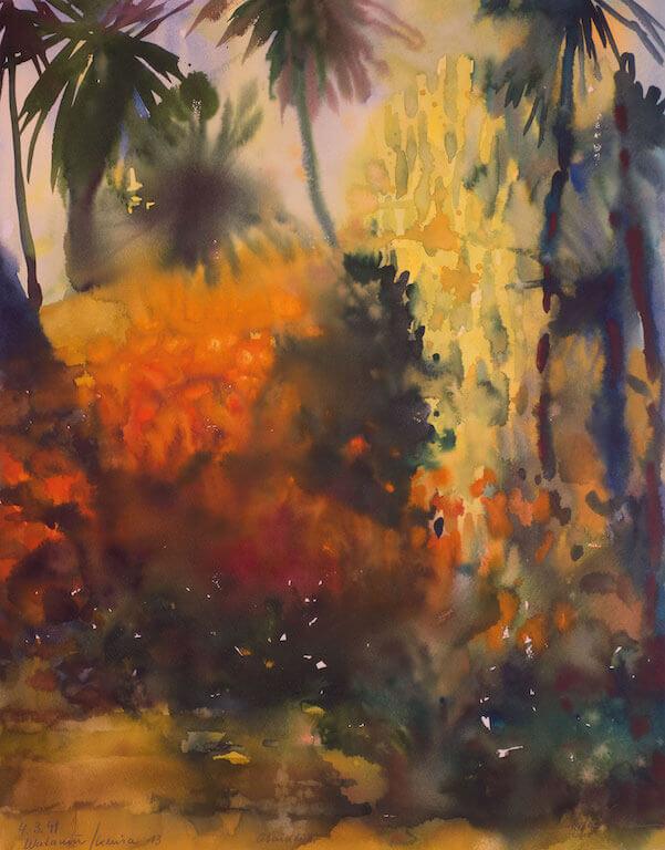 Hans Joachim-Stenzel: Abendlicht Watamu, 4.3.9, © Galerie Paul