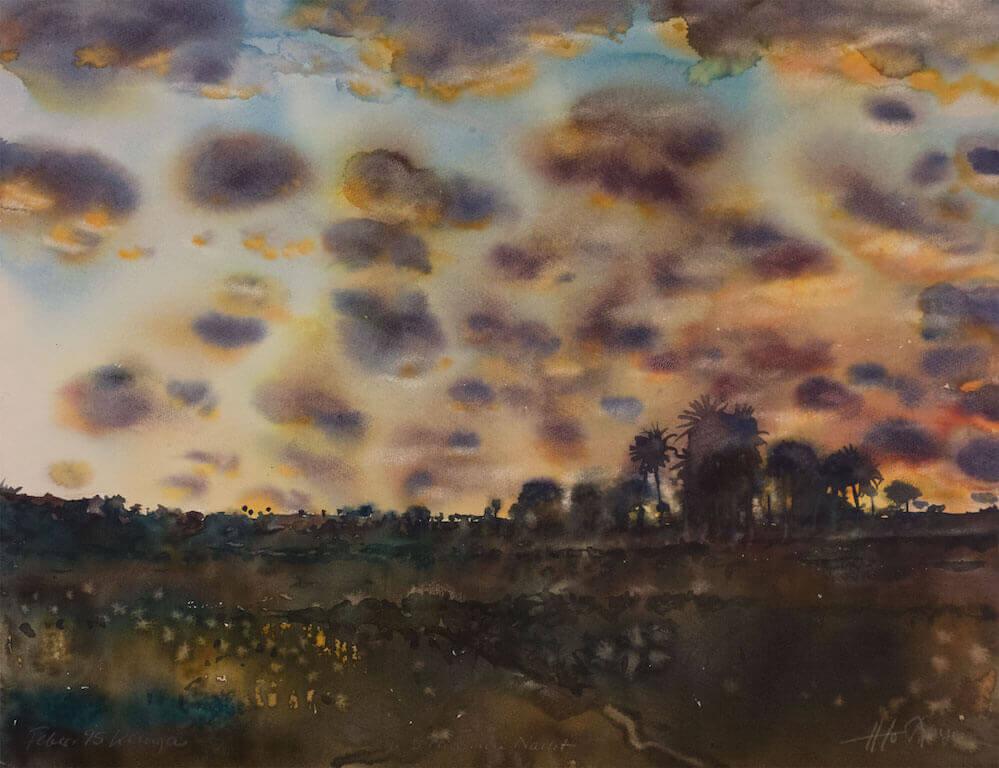 Hans Joachim-Stenzel: Afrika, III, Nacht, Kenya, Frebruar, 95, © Galerie Paul