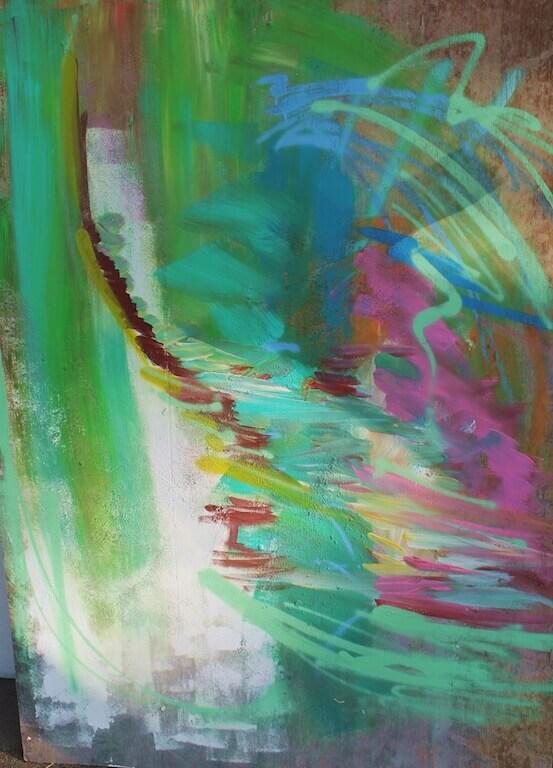 Acryl und Spray Paint auf MDF ,2015, 120x 80cm, © Patricia Leon Torres