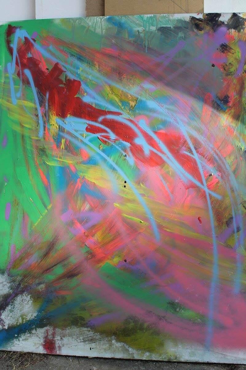 Acryl und Spray Paint auf MDF, 2015, © Patricia Leon Torres