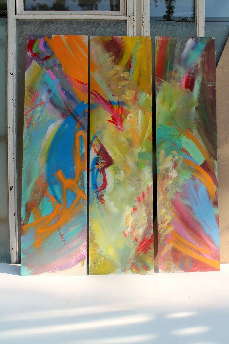 """trinidad"" , 2015, Acryl auf MDF, 2015, © Patricia Leon Torres"