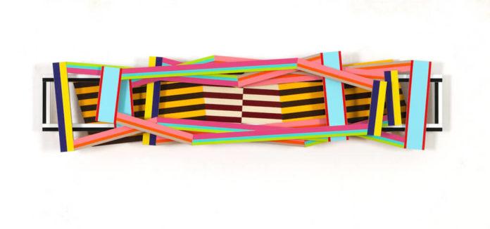 Dieter Balzer, Berlin, Mesa, 2012, MDF, Farbfolien, 77 x 19 cm, © Bunsen Goetz Galerie