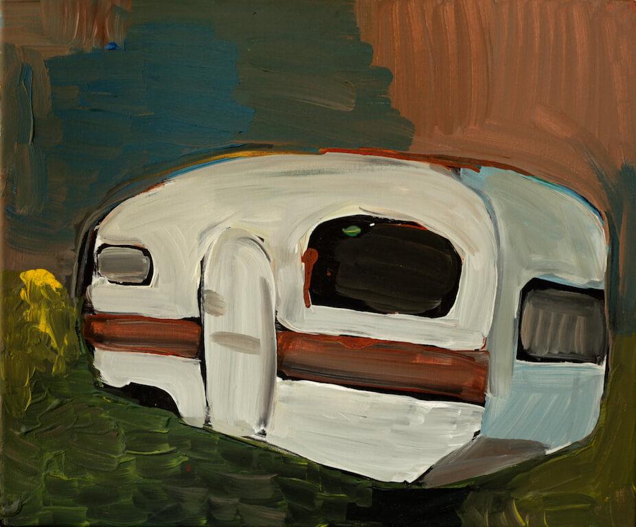 """Caravan"" 2013 60x80cm Akryl auf Leinwand, © Eva Nüßlein"