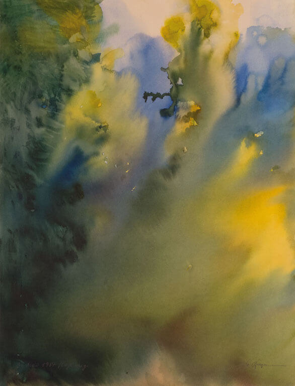 Hans Joachim-Stenzel: Hohlweg, 31.5.87, © Galerie Paul