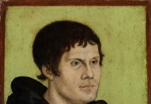 Lucas Cranach d. Ä./Werkstatt: Posthumes Bildnis Martin Luthers als Augustinermönch, nach 1546, Leihgabe der Paul Wolfgang Merkelschen Familienstiftung im Germanischen Nationalmuseum