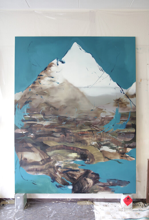 Alpi, 2013/2015; Öl auf Leinwand, 200x155cm, © Nazzarena Poli Maramotti
