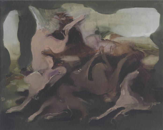 Caccia all'orso, 2015, Öl auf Leinwand, 40x50cm, © Nazzarena Poli Maramotti