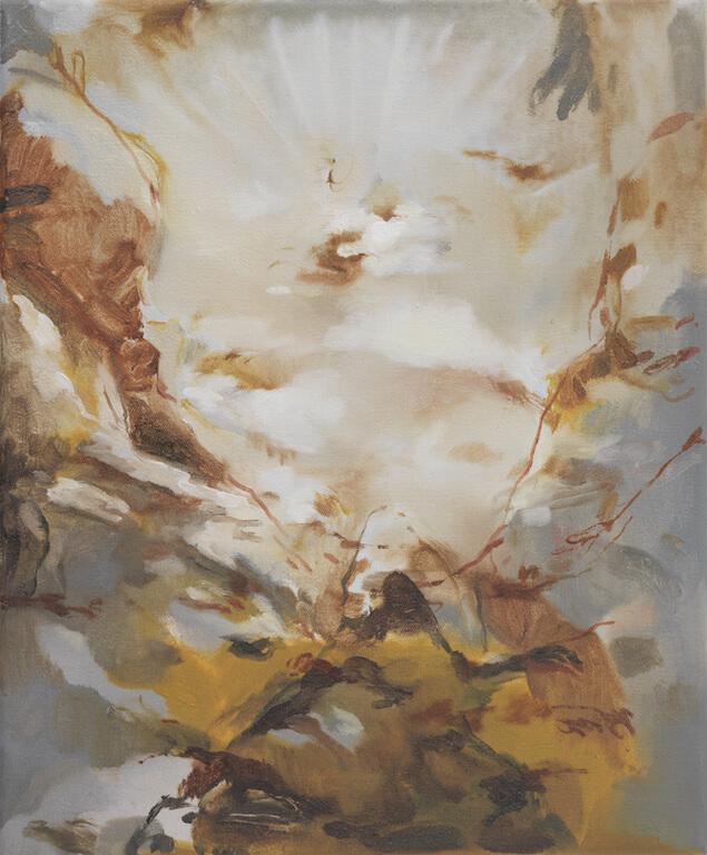 La montagna sacra, 2015, Öl auf Leinwand, 30x25cm, © Nazzarena Poli Maramotti