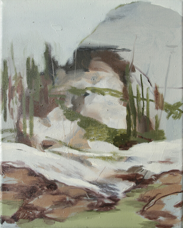 Scenario Alpino, 2015, Öl auf Leinwand, 30x24cm, © Nazzarena Poli Maramotti