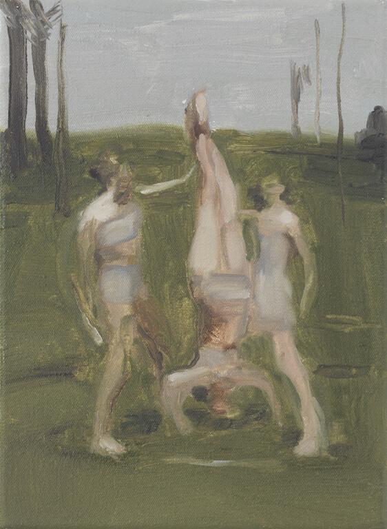 Tre Sempie, 2015, Öl auf Leinwand, 24x18cm, © Nazzarena Poli Maramotti