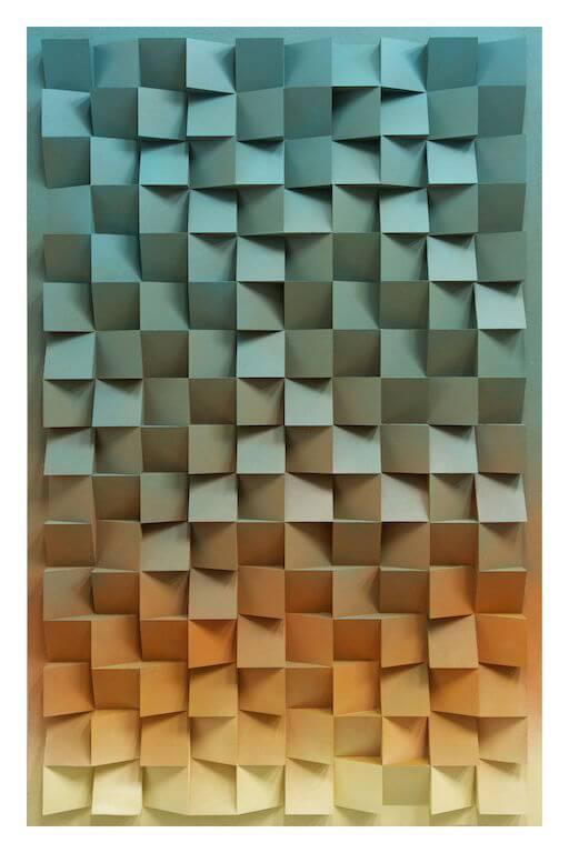 Jan Albers: PulPPicture, 2014, Sprühfarbe auf Polystyrol und Holz, 171 x 110 x 13 cm, Privatsammlung, © Pressefoto Kunstpalais Erlangen