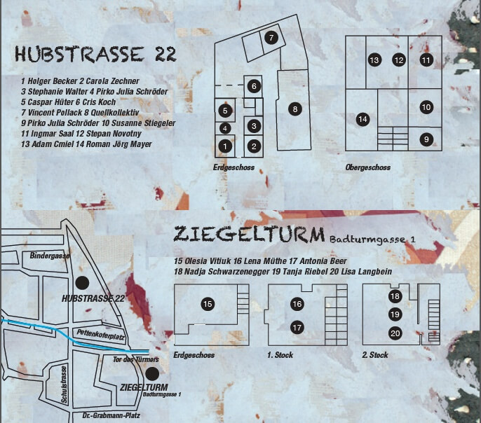Relocating Arcadia, Berchinale 2015, Lageplan