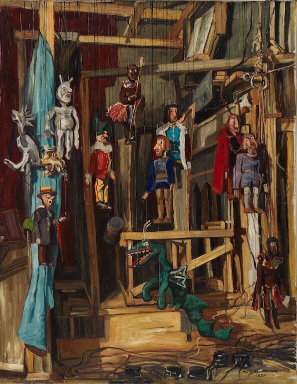 Bachmeier, Thomas: Marionettentheater, 1930 ©Kunstvilla im KunstKulturQuartier, Foto: Annette Kradisch, Nürnberg