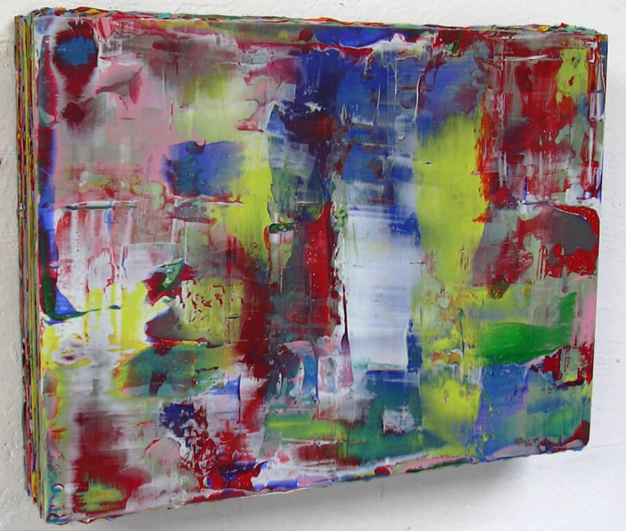 Ulrich Diekmann, SB, B05, 2002, Acryl auf Leinwand, gespachtelt, geschliffen, 36 x 47 x 8cm, © Bunsen Goetz Galerie