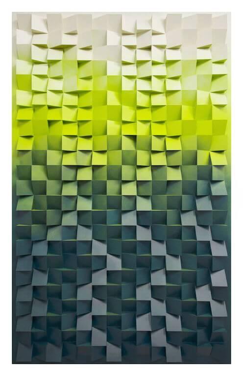 Jan Albers: brasilpowDerupanDDownDiamonDDust, 2013, Sprühfarbe auf Polystyrol, 240 x 150 x 13 cm, Sammlung Wethmar, Düsseldorf, © Pressefoto Kunstpalais Erlangen