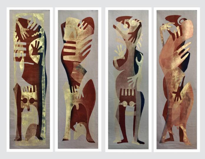 Guido und Johannes Häfner: Archetypen, je 225 x 70 cm © Guido und Johannes Häfner