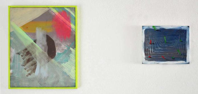 o.t., Mischtechnik auf Leinwand, 52x42cm o.t., Öl und Acryl auf Leinwand, 24x30cm, © Antonia Beer