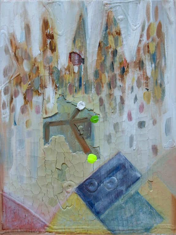 o.t., Mischtechnik auf Leinen, 40x50cm, 2015, © Antonia Beer