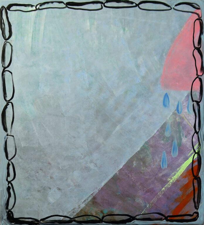 o.t., Mischtechnik auf Leinen, 60x50cm, 2015, © Antonia Beer