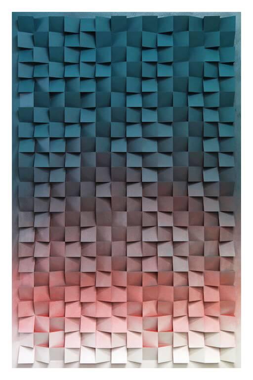 Jan Albers: thrEEhundrEdtwEntytwobEautyupanddown, 2013, Sprühfarbe auf Polystyrol und Holz, 240 x 150 x 13 cm, Sammlung Janine & Markus Voigt , © Pressefoto Kunstpalais Erlangen
