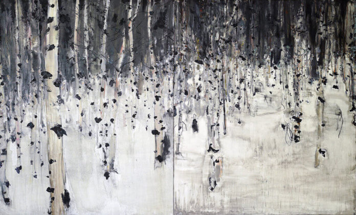 Birkenwälder   2015   Öl auf Leinwand  200 x 330 cm, © Jihee Kim