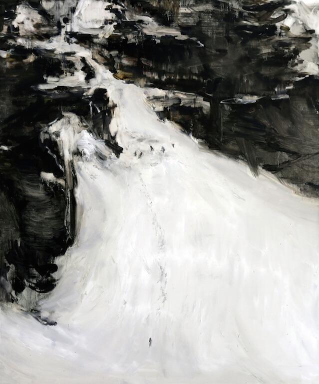 o.T.(Lawine)   2014   Öl auf Leinwand   180 x 150 cm, © Jihee Kim