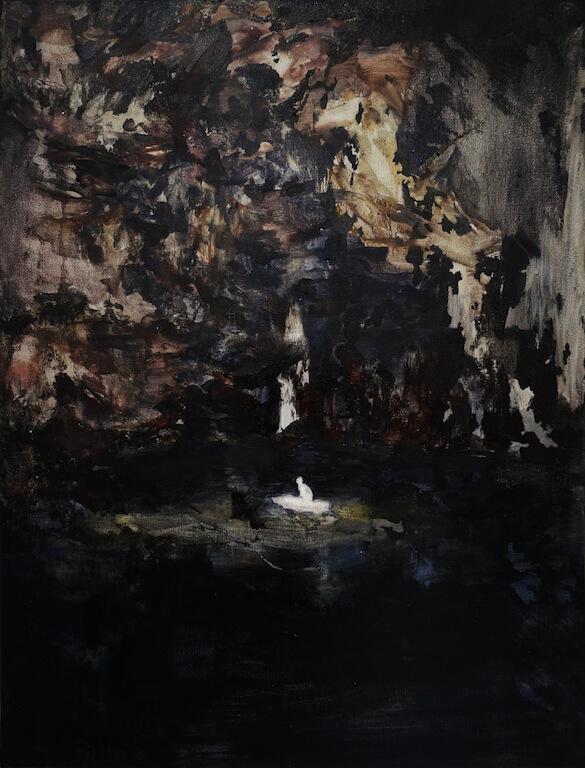 Der Schiffbrüchige | 2014 | Öl auf Leinwand | 80 x 60 cm, © Jihee Kim