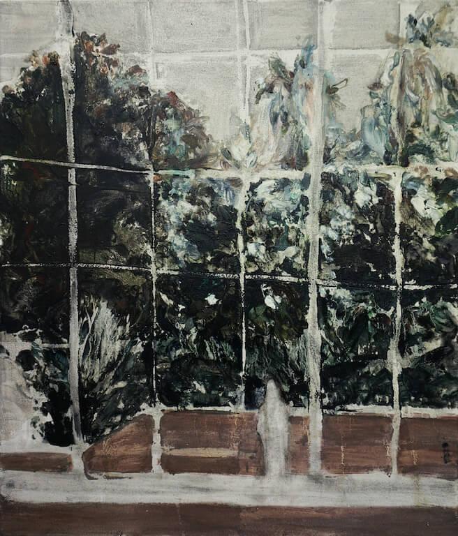 Botanischer Garten | 2014 | Öl auf Leinwand | 70 x 60 cm, © Jihee Kim