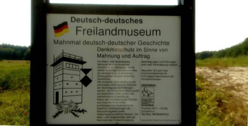 Deutsch-deutsches Freilandmuseum bei Behrungen, Infotafel am Grenzturm, © Alexander Racz