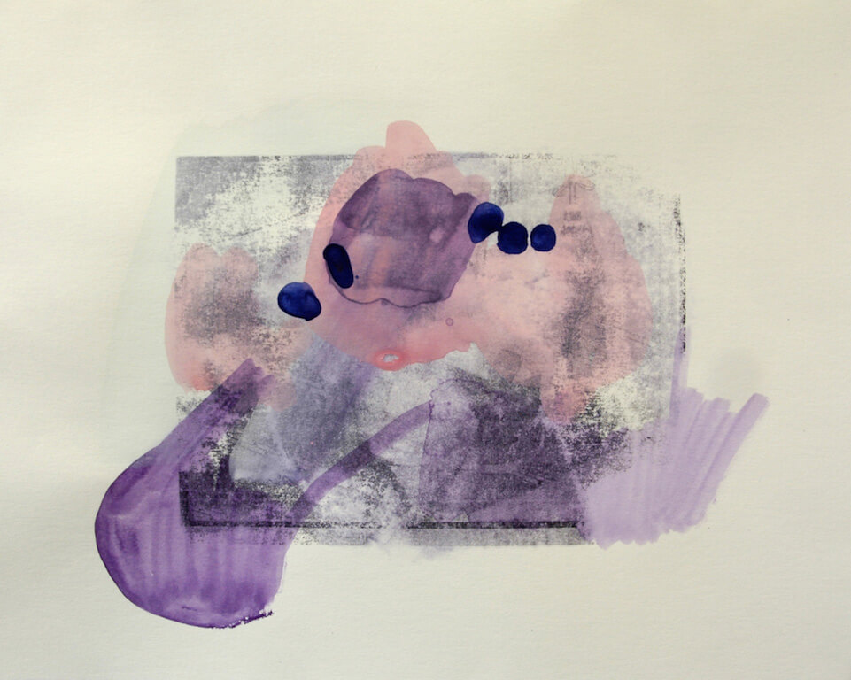 Christiane Bergellt: Tage im November 120 x 25 cm, 2013, Mischtechnik auf Papier, © Galerie Sturm
