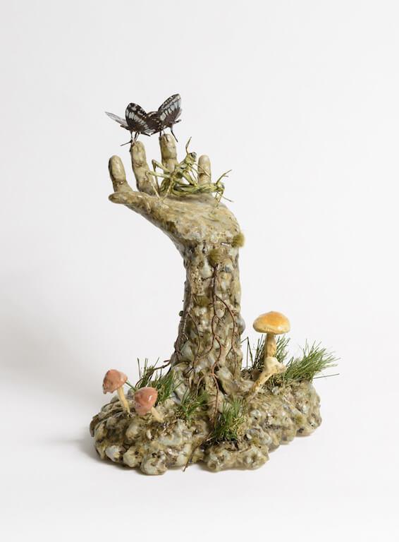 Jude Griebel: Reanimator Grasshoppers 35x30x26cm, © Galerie Sturm