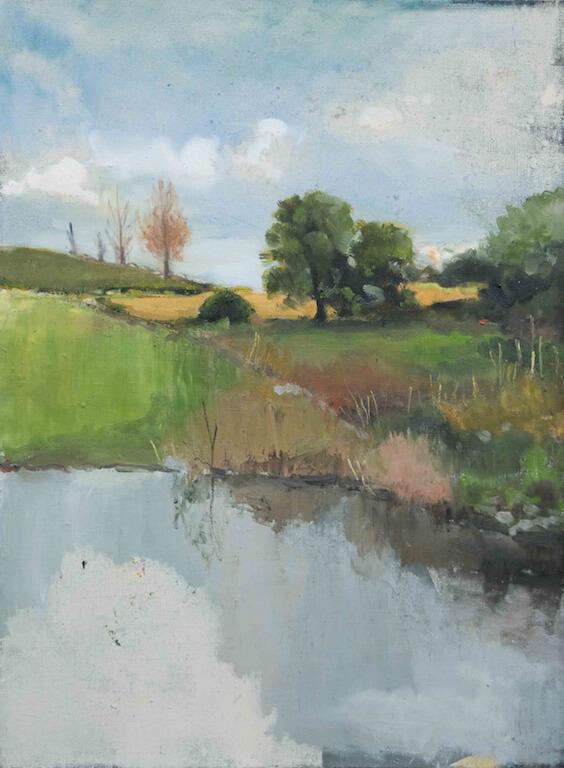 Jochen Pankrath: Landschaftsmalerei (fragment), 120x90, Öl auf Leinwand, 2015, © Galerie Sturm