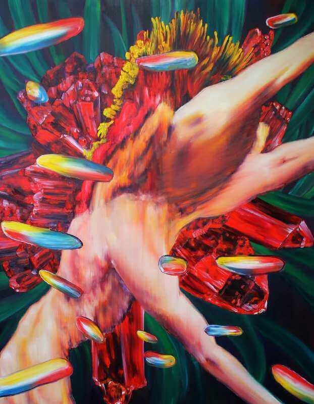 Markus Burkard | Kostümierung des Raubtierkapitalismus als Naturzustand | 2015 | Öl auf Leinwand | 180 x 140 cm | © Markus Burkard