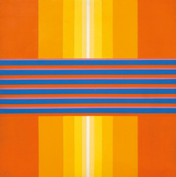 Peter Kalkhof: space in between, 1966, acrylic canvas, © Galerie Sturm