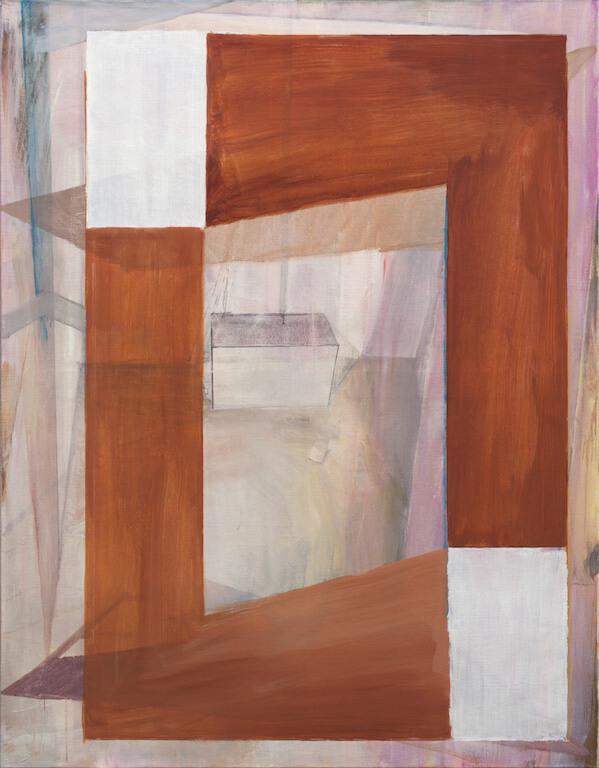 Tobias Buckel: Doppelung 2013, Öl auf Leinen, 180x140 cm, © Galerie Sturm