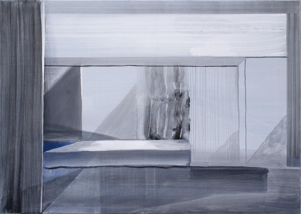 Tobias Buckel: Scene, 2015, 100x140 cm, © Galerie Sturm