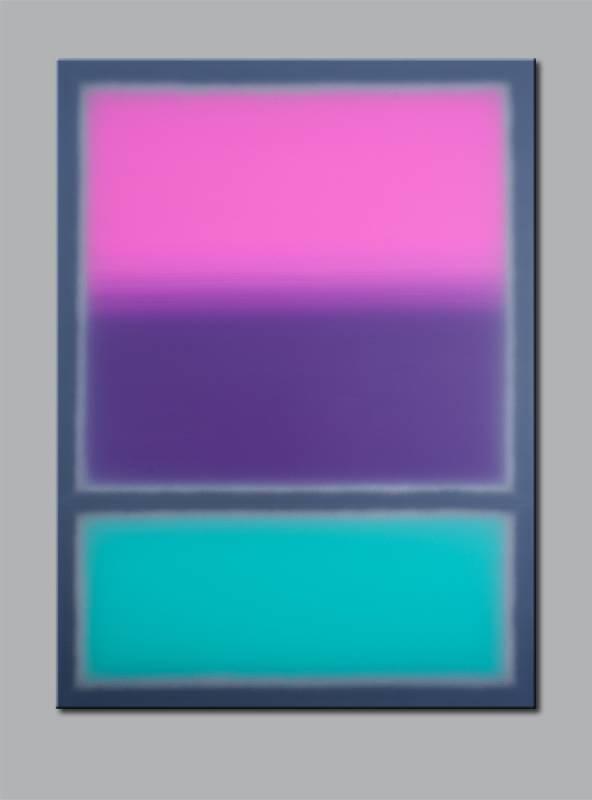 """""""Violett über Türkis"""" / 2014 / Acryl auf Leinwand / 160cm (H) x 120cm , © Mara Ruehl"""