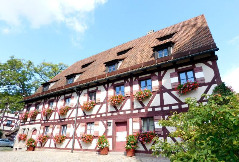 Sekretariatsgebäude der Kaiserburg Nürnberg im äußeren Burghof