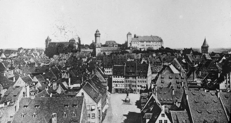 Nürnberger Burg, Foto: Sigurd_Curman, um 1900, (CC BY 2.0)