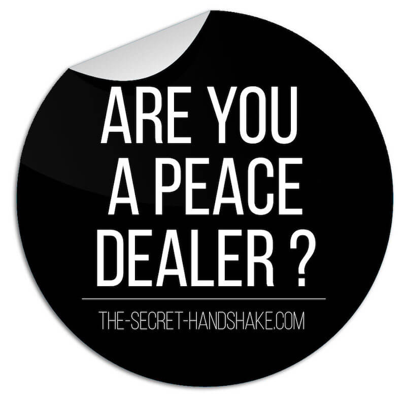 ARE YOU A PEACE DEALER, SECRET HANDSHAKE TOUR, CROWDFUNDING KAMPAGNE