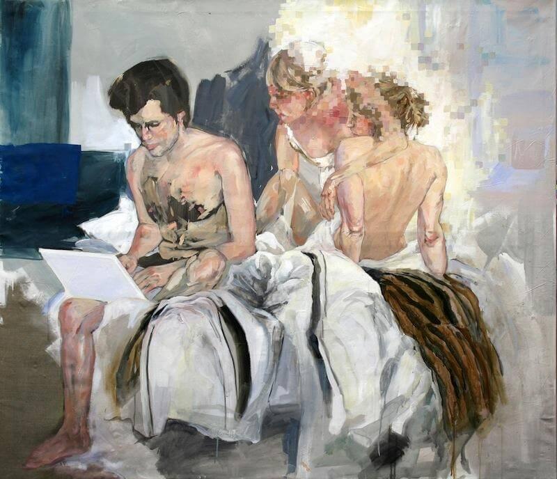 Beziehung 2.0. 140 x 160 cm. Öl auf Leinwand. 2010, © Stephanie Walter